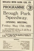 First meeting at Brough Park.