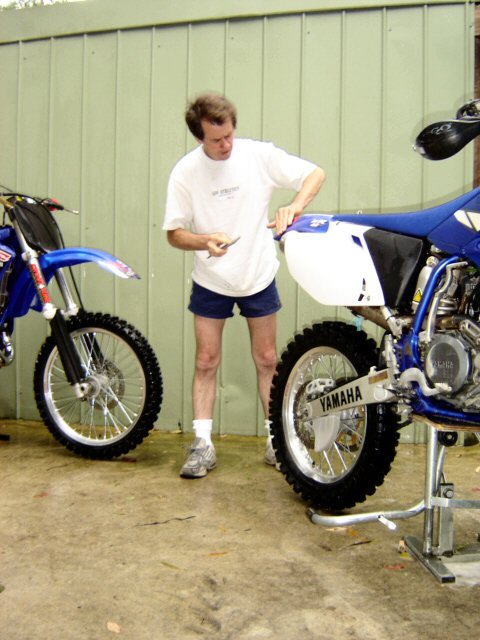 Rod and his Moto Cross bike